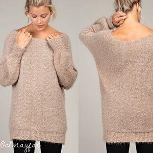 Sweaters - *SALE {LAST3} Fuzzy Mocha OTS Sweater